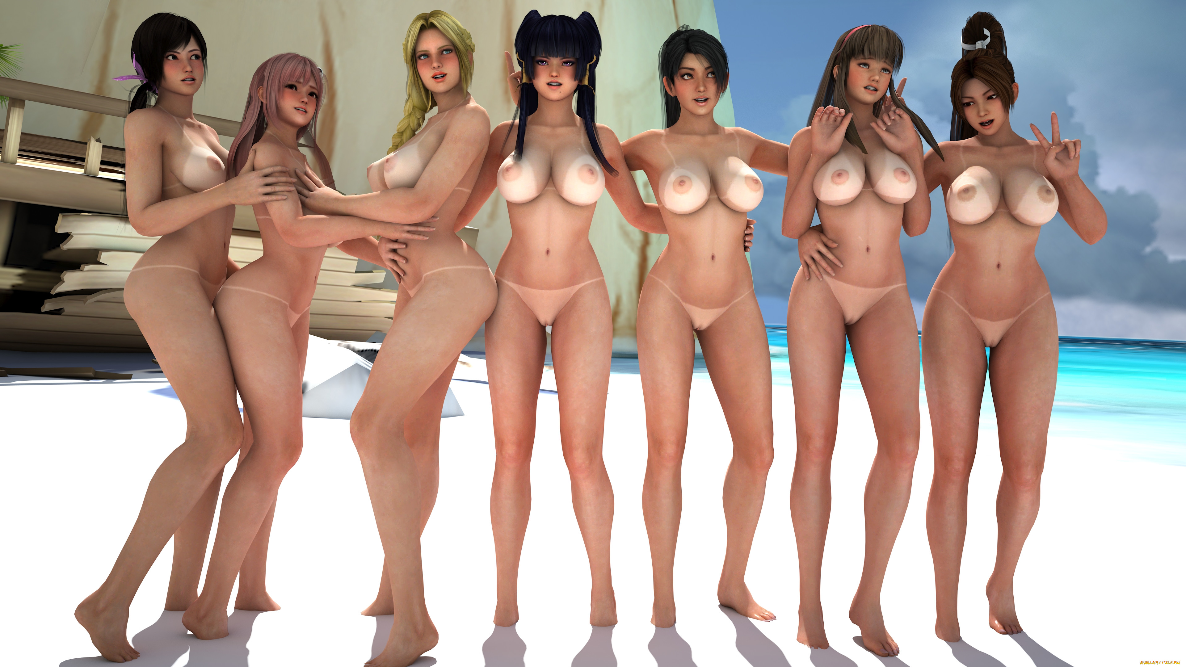 Hot nude game girls